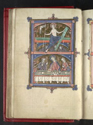 The Resurrection And The Meal At Emmaus, In 'The Grandisson Psalter'